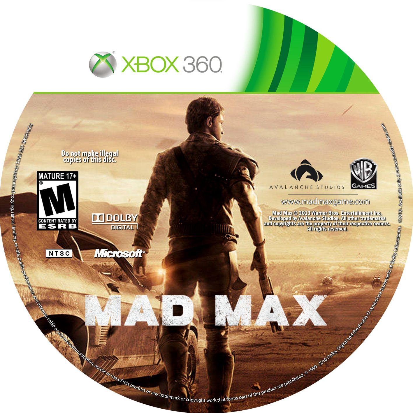 Label Mad Max Xbox 360