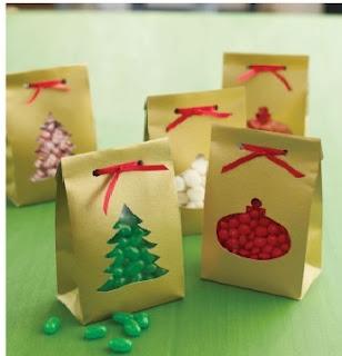 Embalagem  decorada para natal