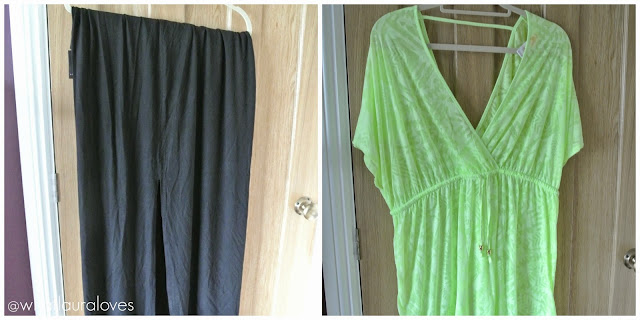 Primark Black Maxi Skirt with side splits lime swimsuit cover up