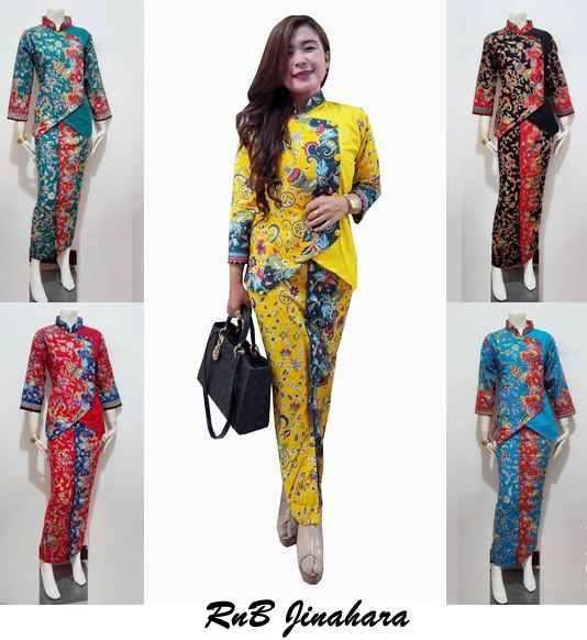 Baju Atasan Batik Model Setelan Rok Panjang Busana Baju
