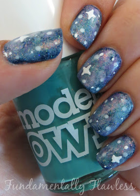 Galaxy nails tutorial with Models Own Jade Stone