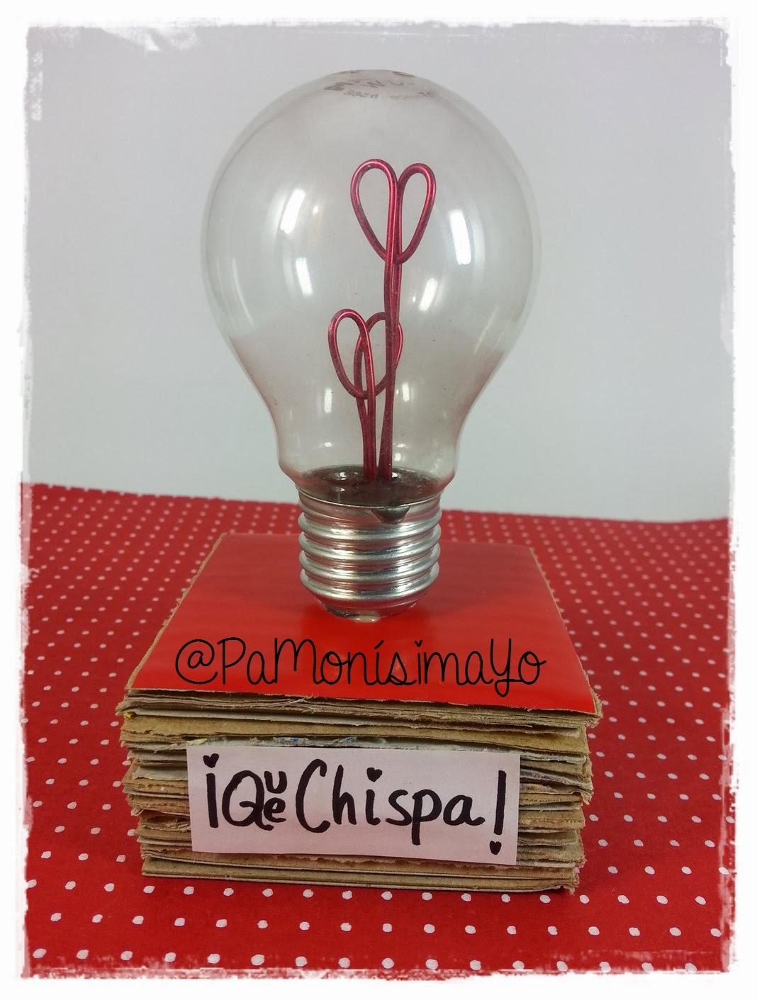 Recicla una bombilla para San Valentín @pamonisimayo