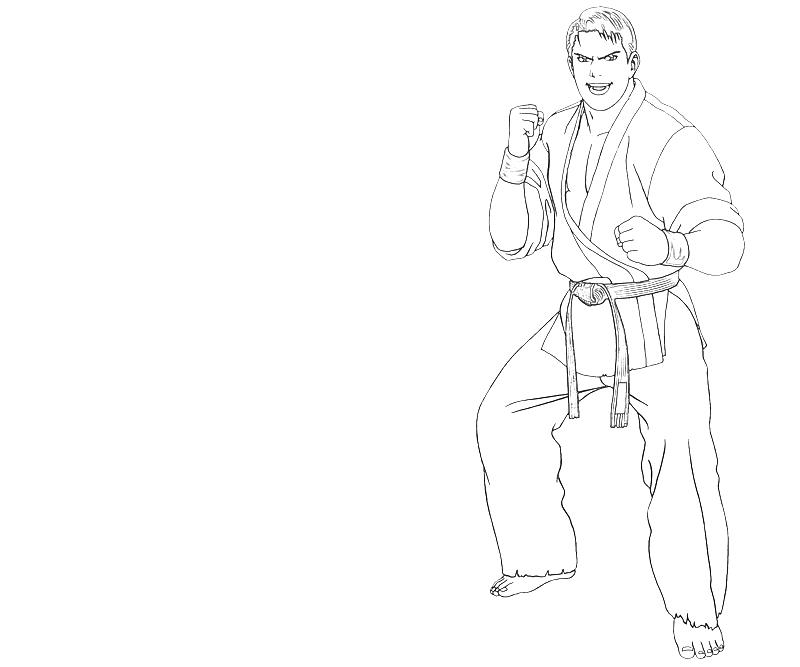 printable-takuma-sakazaki-character-coloring-pages