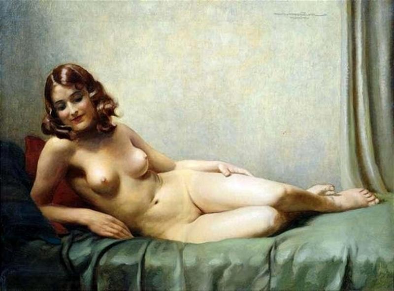 D.W.C. Classic Nude - Painter Hans Hassenteufel