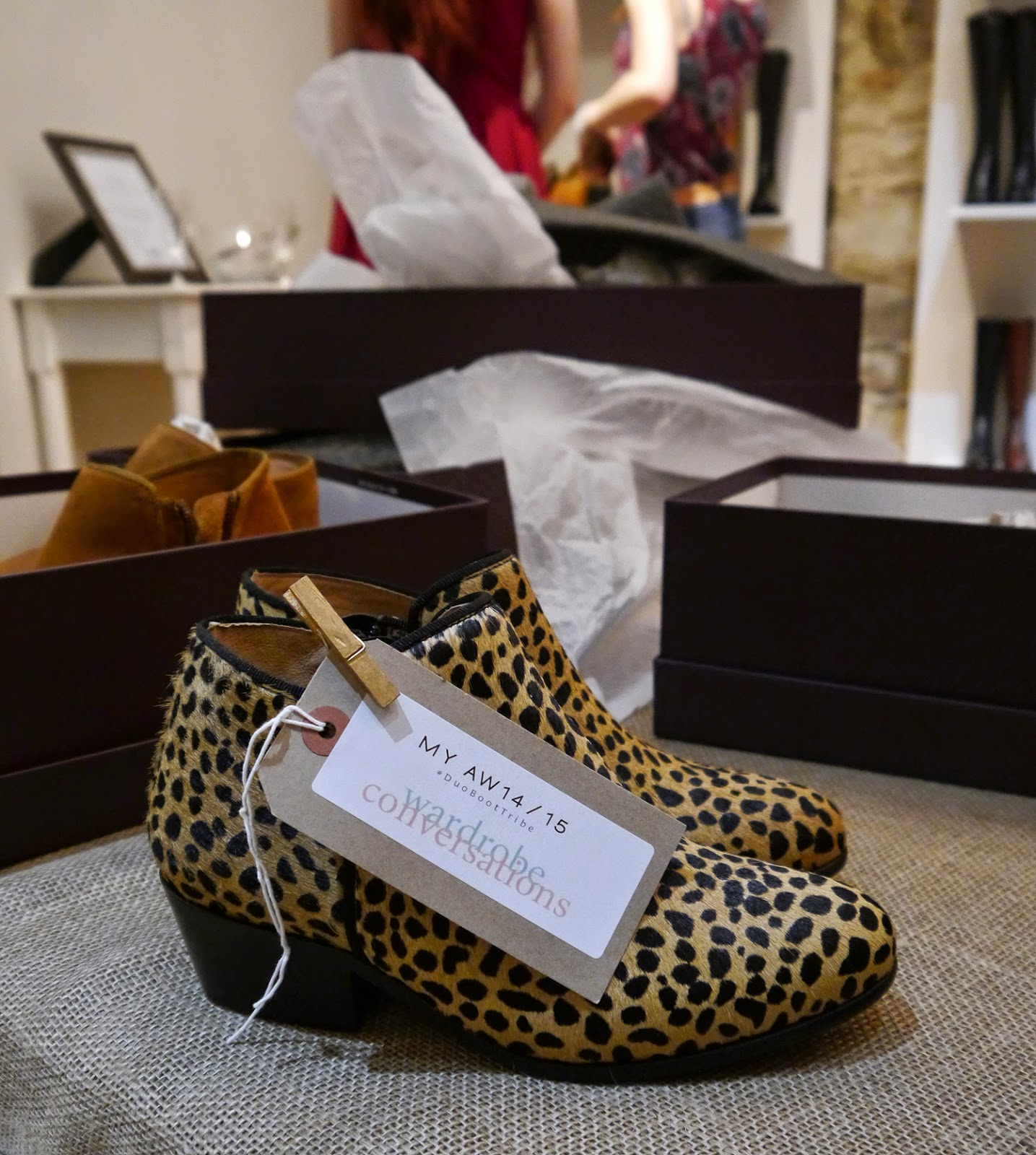 DUO, Edinburgh event, Blogger event, Scottish bloggers, blogging duo, ankle boots, autumn style, animal print, leopard print, boots, Wardrobe Conversations, #boottribe, #DUOBootTribe, Duo Boot Tribe