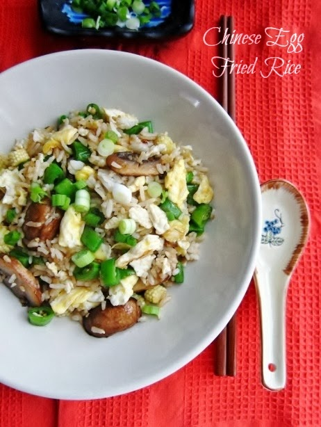 Vegetarian Chinese Egg Fried Rice from Nomsies Kitchen