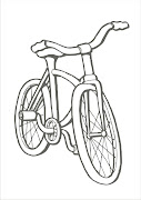 Imprima esse desenho para pintar de bicicleta para as crianças colorir e . (desenho para colorir de bicicleta)
