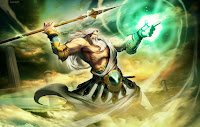 Image of powerful Greek God Zeus