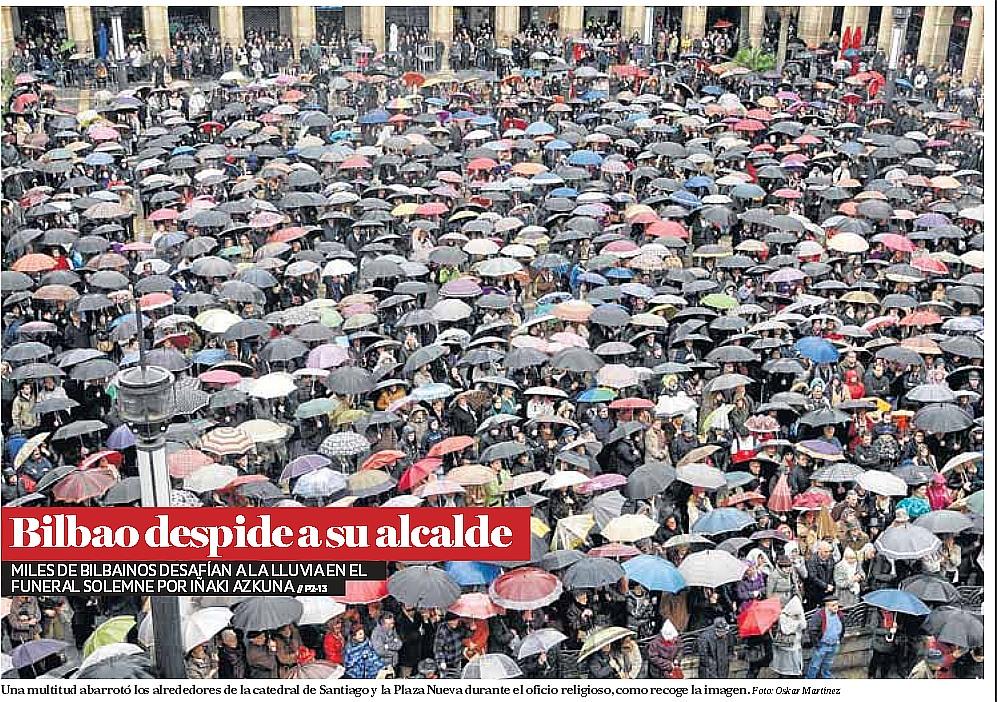 Paraguas,funeral,Azkuna,Bilbao,alcalde