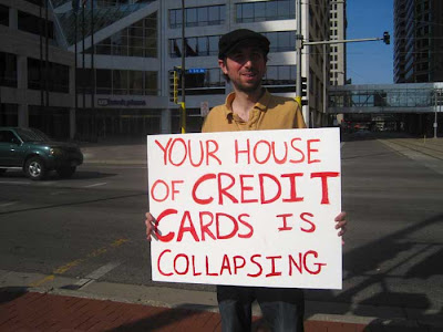 Your house of credit cards is collapsing