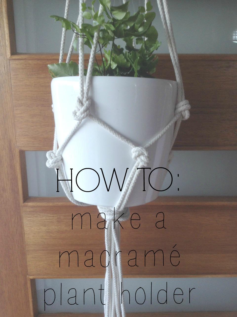 Handmade Christmas gift idea Macram Plant Hanger
