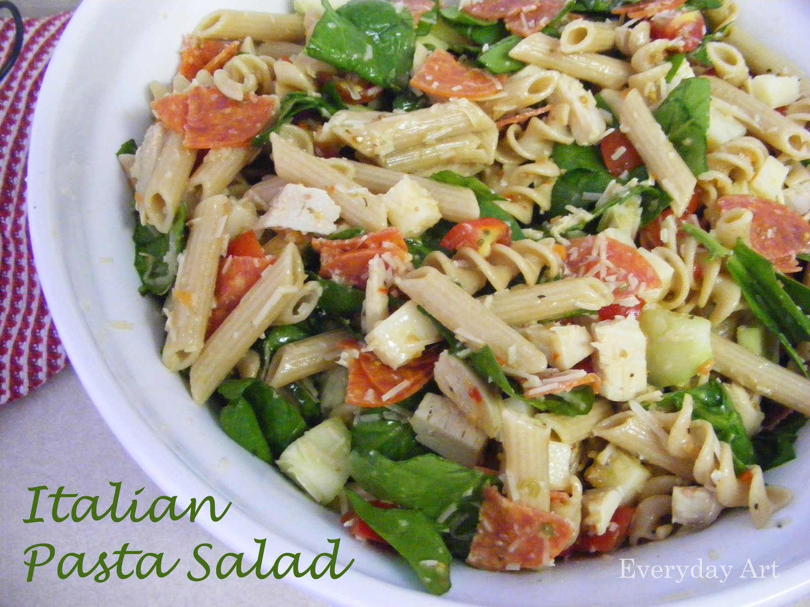 Everyday Art: Italian Pasta Salad