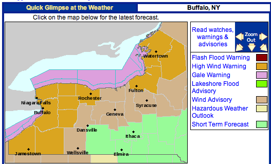 the weather centre  buffalo  ny under high wind warning
