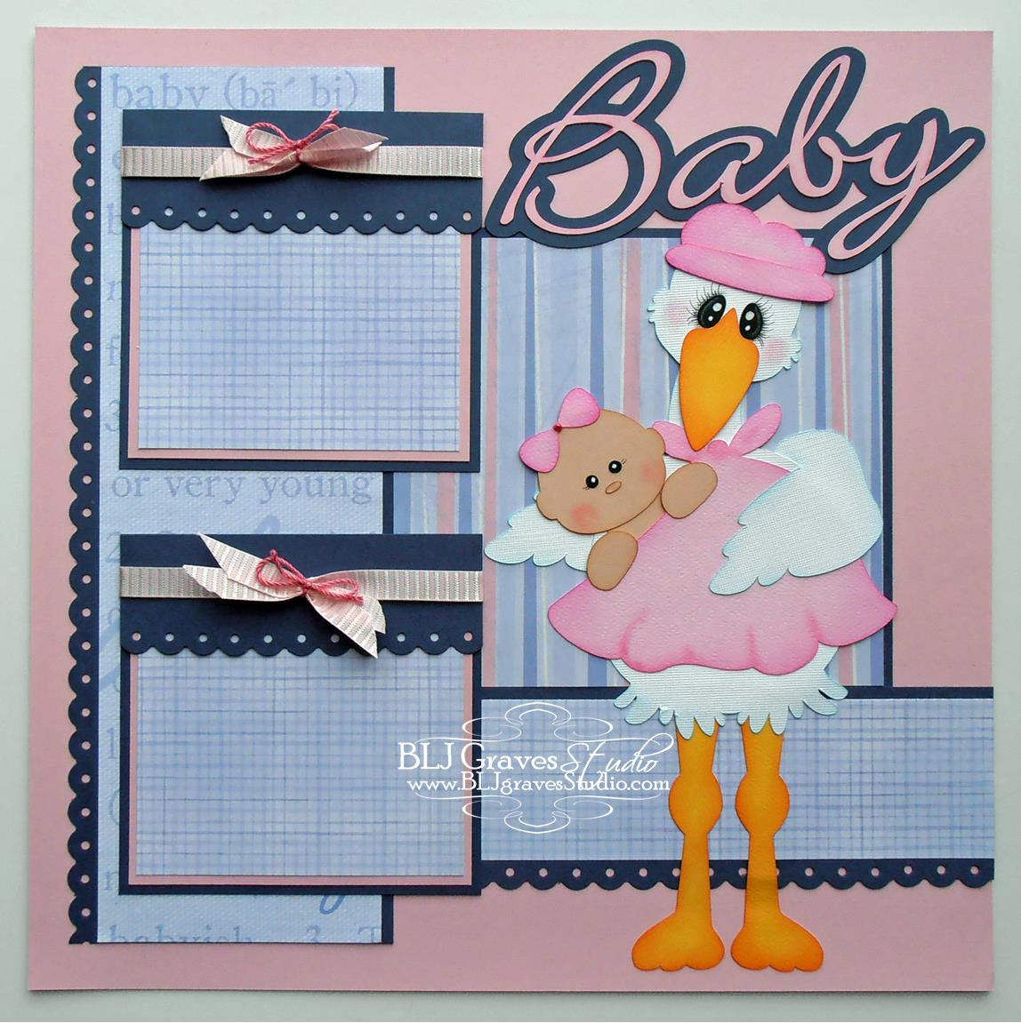 Scrapbook ideas for baby girl - Baby Girl Scrapbook Page Cutting File For This Scrapbook Page From Treasure Box Designs