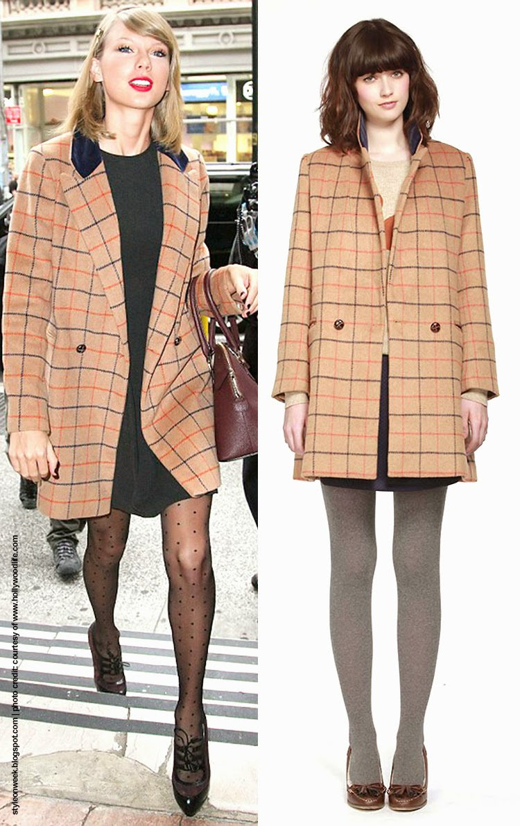 Taylor Swift's Cover Up From The Cold with Miss Patina Darlington Coat