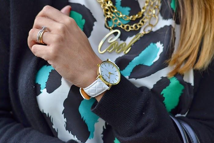 orologio bianco oro la tua moda