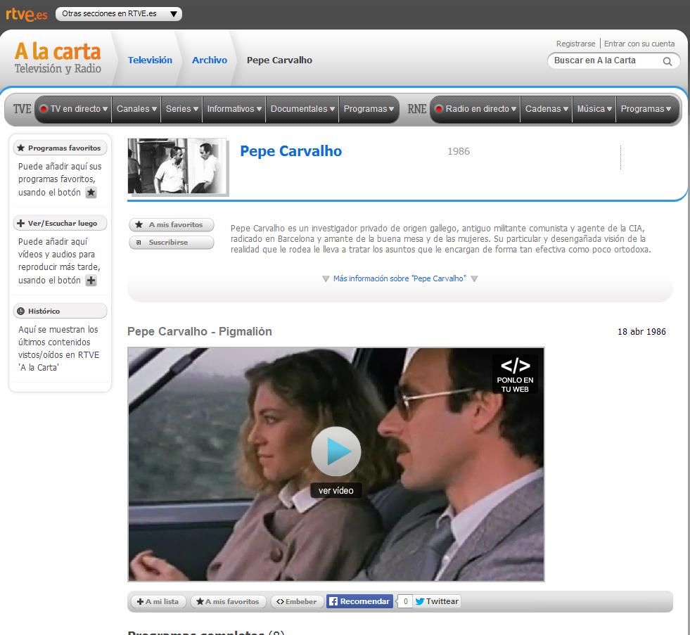http://www.rtve.es/alacarta/videos/pepe-carvalho/