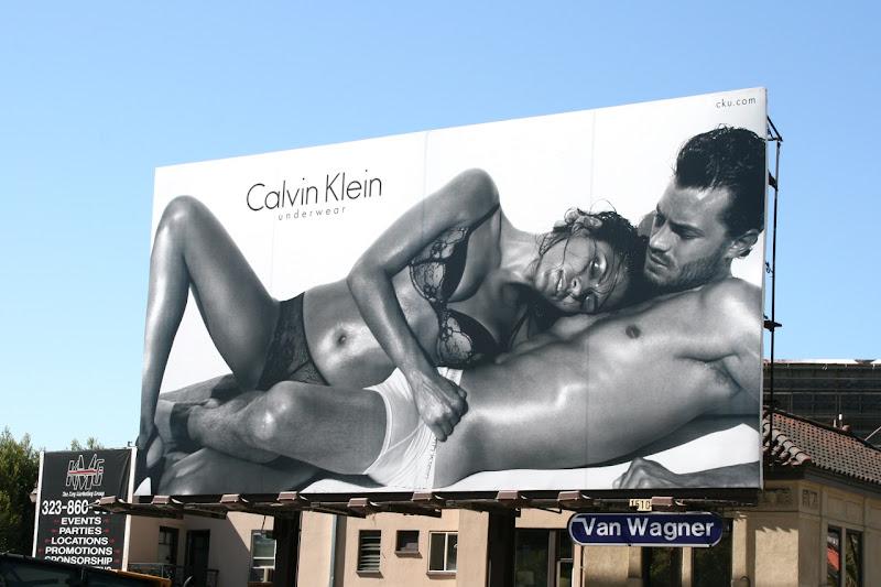 Calvin Klein Eva Mendes underwear billboard