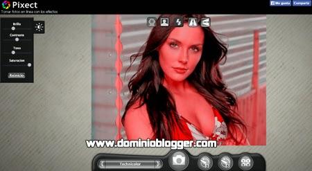 Toma fotos con tu webcam y agregale efectos con Pixect