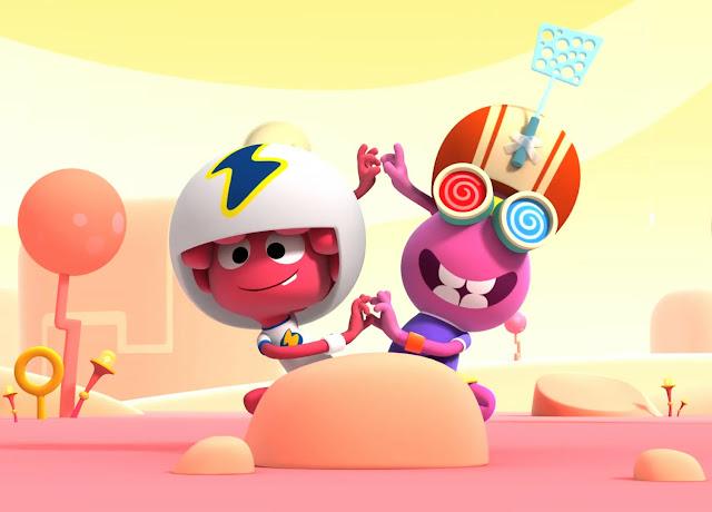 Imagen de los protagonistgas de la serie de dibujos animados Jelly Jamm