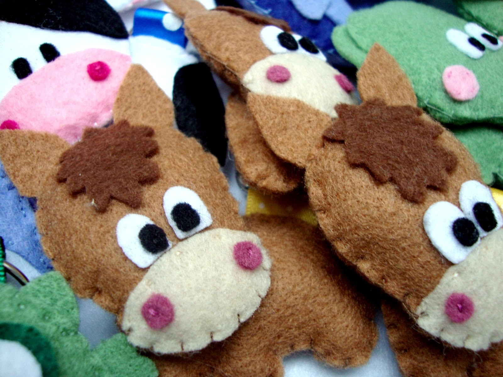 Bibidi bobidi bu animaletti di pannolenci portachiavi for Portachiavi pannolenci