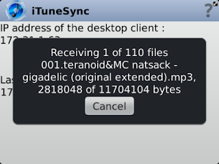 iTunes Sync v1.0.2 BlackBerry