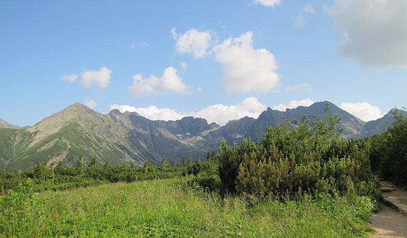Królowa Rówień - widok na szczyty Tatr.