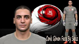 PES 2015 Cenk Gönen face by Sekiz