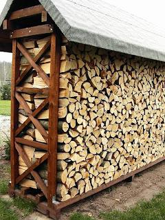 Piękna drewutnia