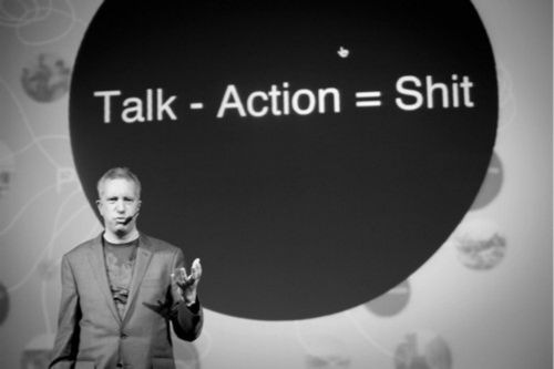 Wisdom Quote - Talk Less More Action