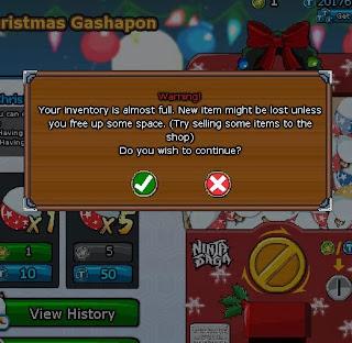 Trick Christmas Gashapon Ninja Saga 2013