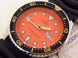 SEIKO DIVER SKX011J ORANGE DIAL - AUTOMATIC 7S26 - BRAND NEW WATCH