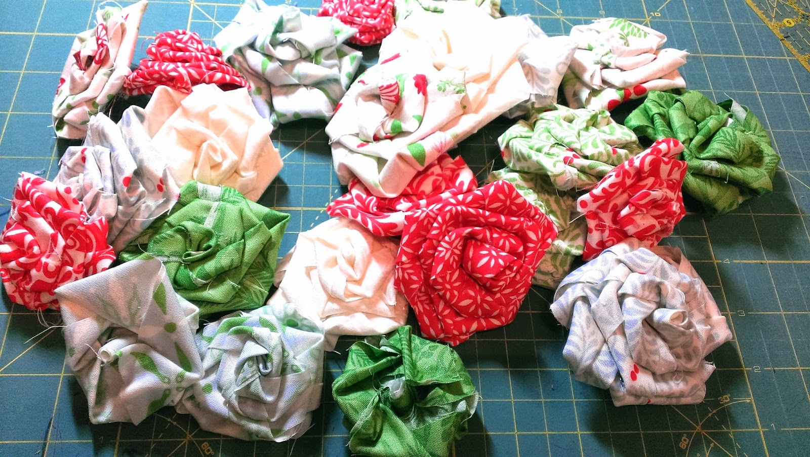 Sew Lux Fabric | Christmas in July | Fabric Flower Wreath