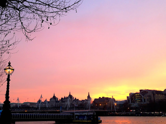 London southbank at sunset