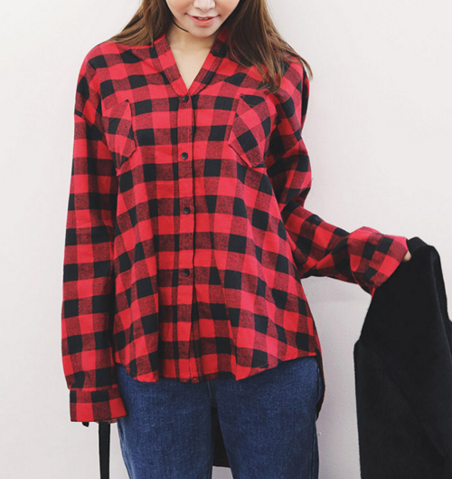 Classic Loose Fit Check Shirt