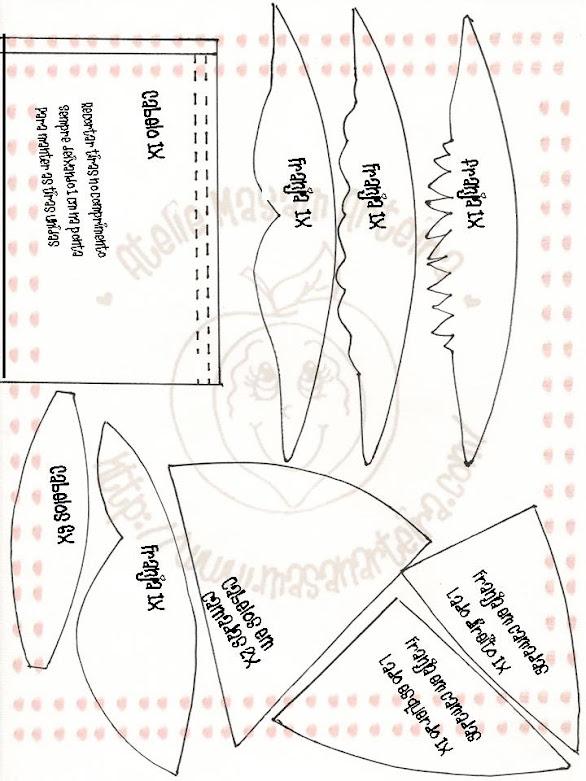Moldes para fofucha cigüeña - Imagui