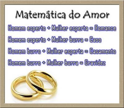 Mensagens para Facebook e Imagens Matemática do Amor