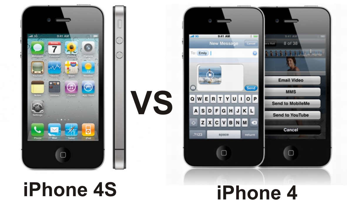 Apple iPad iPhone iPod: iPhone 4 vs iPhone 4S not look ...