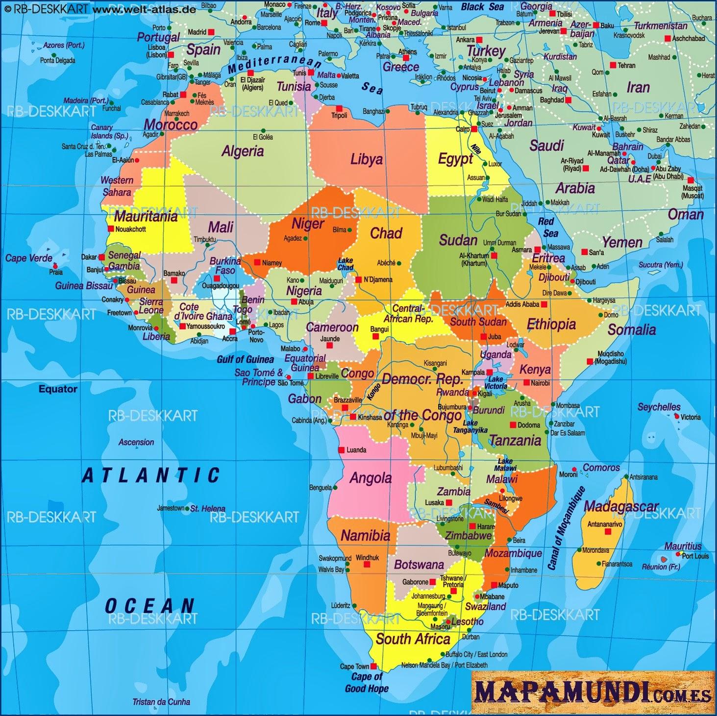 Sudfrica Mapa Historia