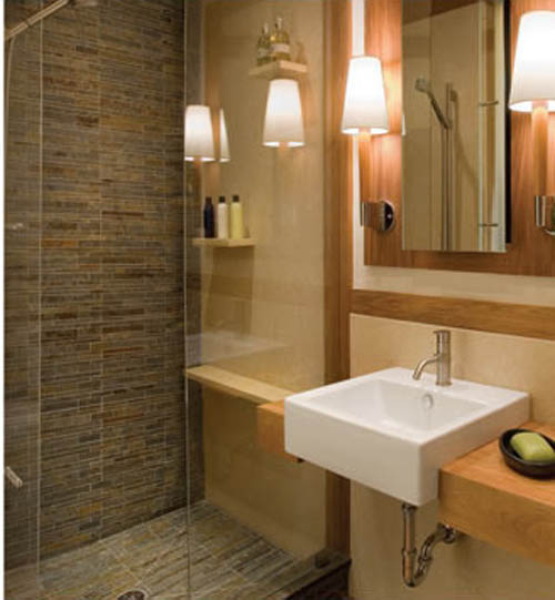 World home improvement secrets to great bathroom design for Ensuite lighting ideas