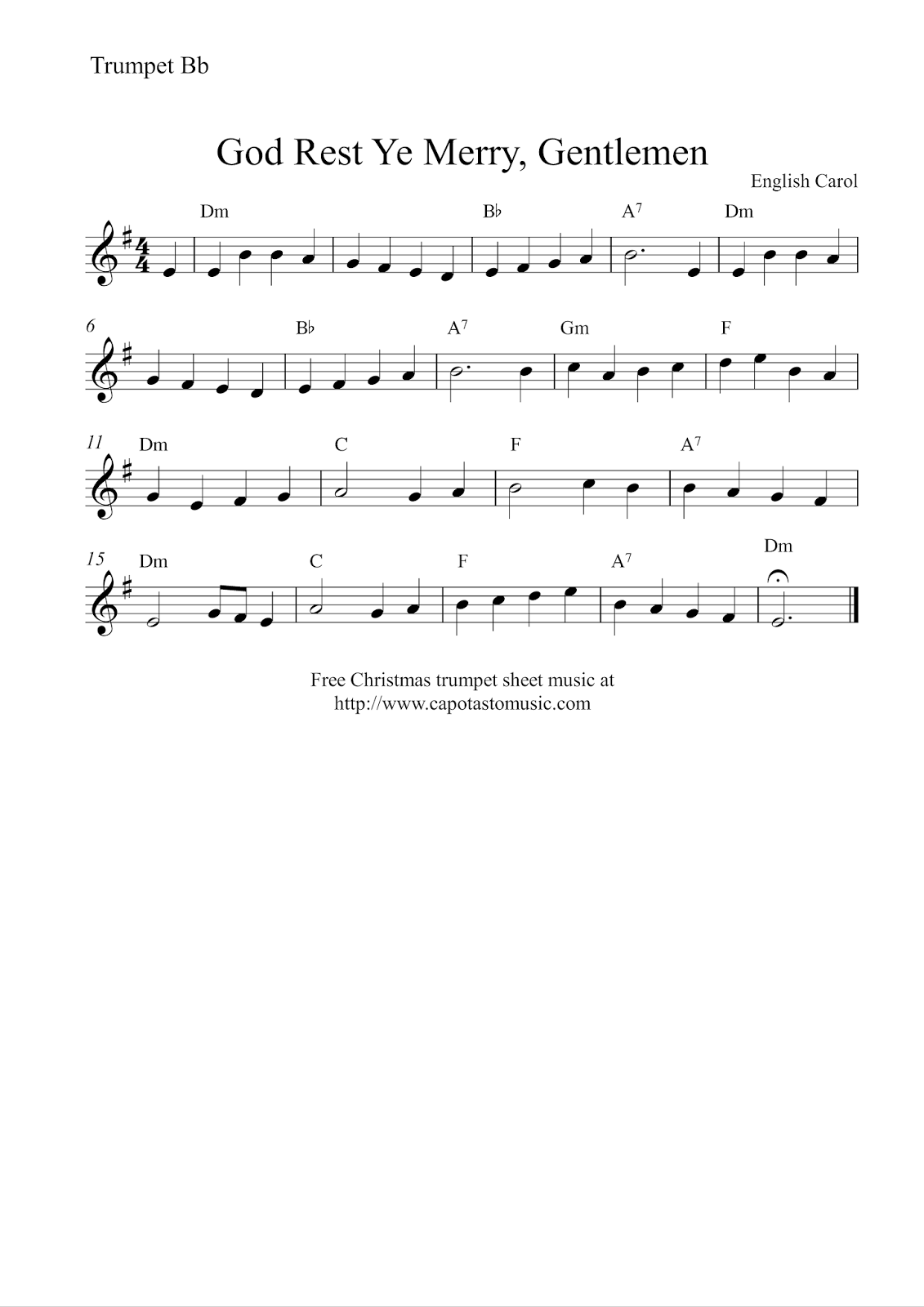Free Sheet Music For Trumpet