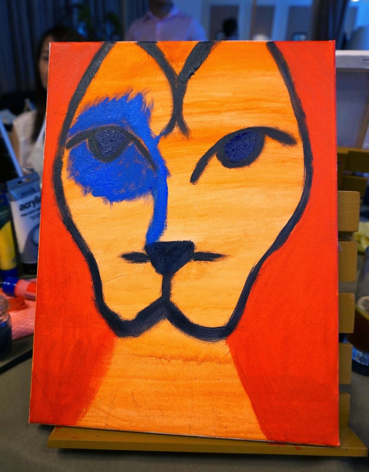 lion face paint instructions