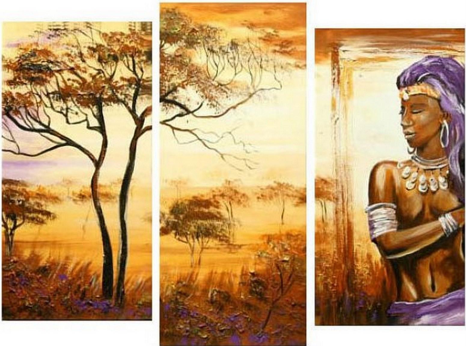 Cuadros pinturas oleos cuadros modernos africanos - Cuadros modernos para pintar ...
