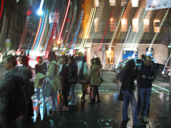 Castlereagh Street at night for Sydney Vogue Fashion's Night Out 2011