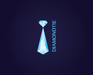 diamond tie logo design