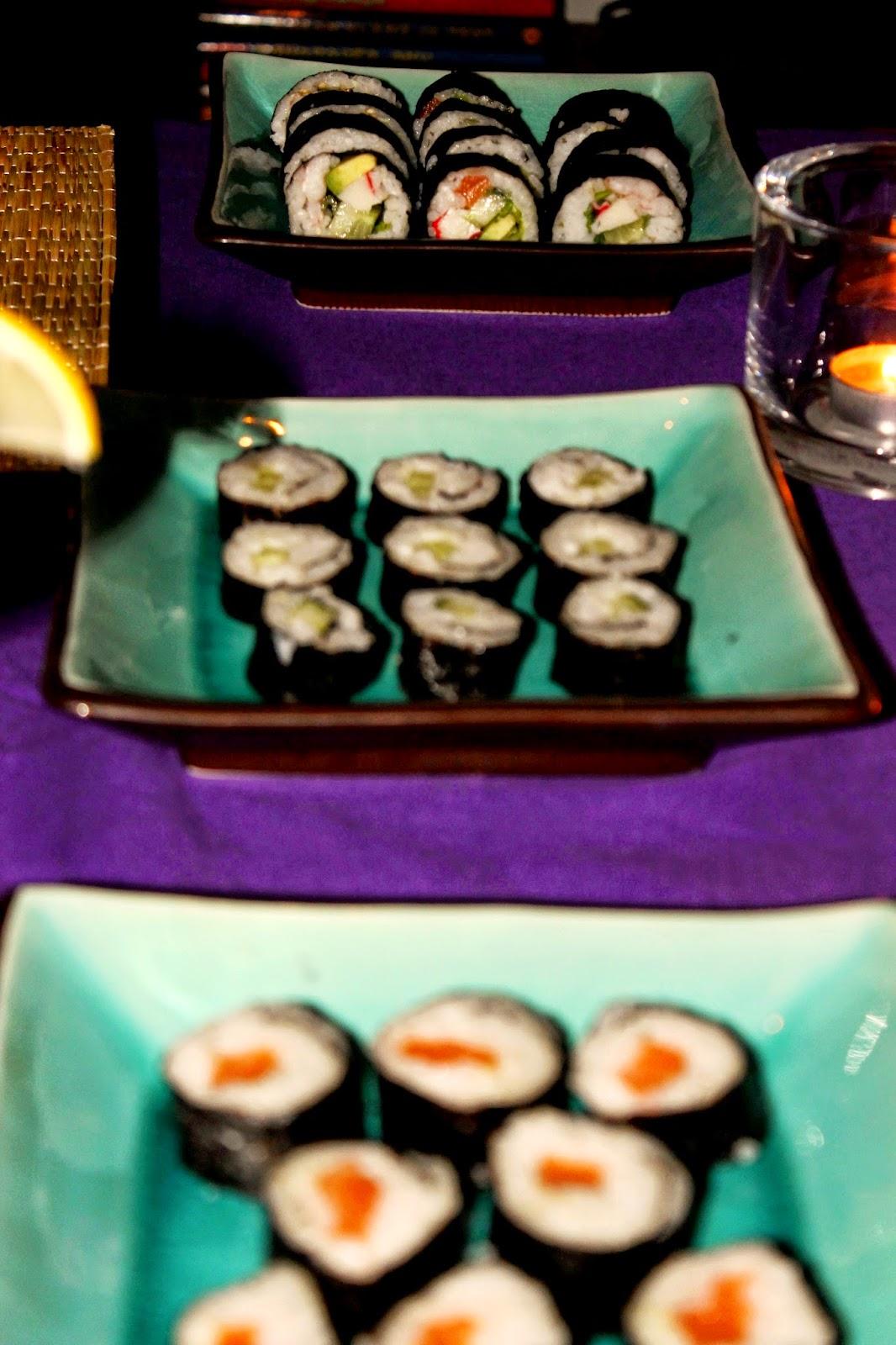 futomaki sushi maki rolls