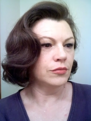 Retro Gran's attempt at Lauren Bacall hair
