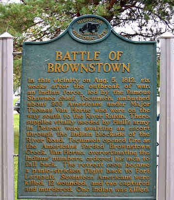 1812 : Battle of Brownstown Results in First Michigan Casualties in War of 1812