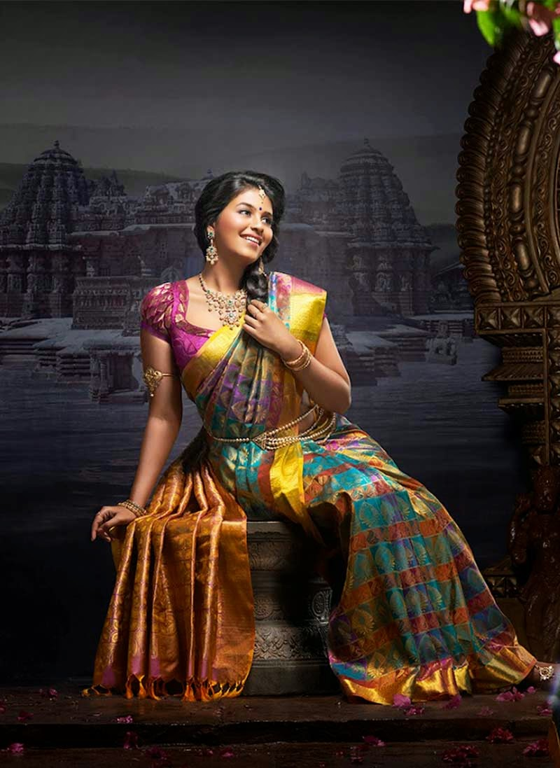 Actress Anjali Wedding Bridal Saree