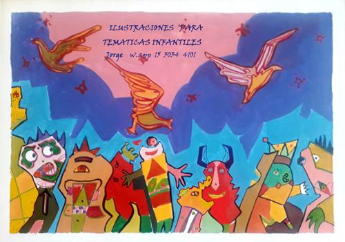 Jorge Requena, Artista Plástico-Imágenes para temáticas infantiles